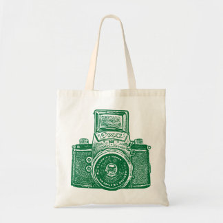 East German Camera - Forest Green Tote Bag