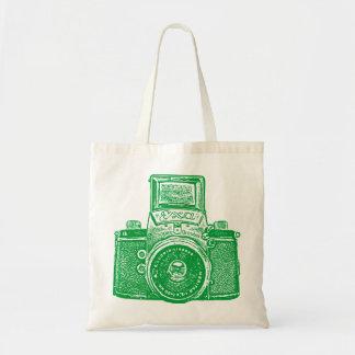 East German Camera - Grass Green Tote Bag