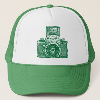 East German Camera - Green Trucker Hat