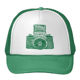 East German Camera - Green Trucker Hat