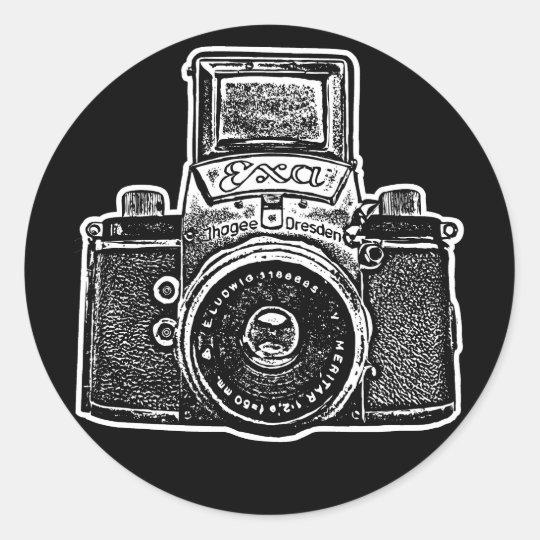 East German Camera II Classic Round Sticker
