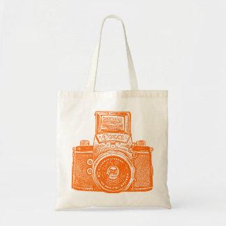 East German Camera - Orange Bag