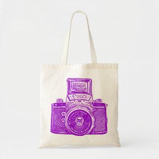 East German Camera - Purple Tote Bags