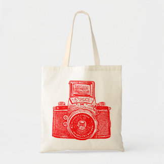 East German Camera - Red Budget Tote Bag