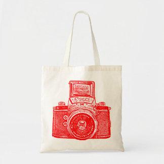 East German Camera - Red Tote Bag