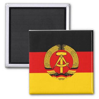 East German Flag 2 Inch Square Magnet