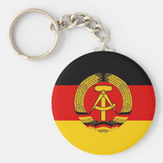 East German Flag Basic Round Button Keychain
