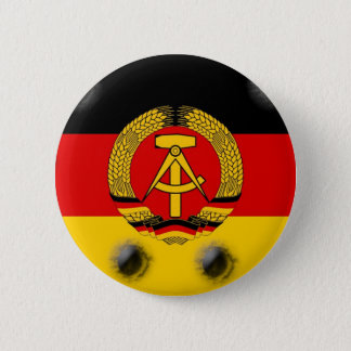 East German Flag Pinback Button