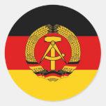 East German Flag Stickers
