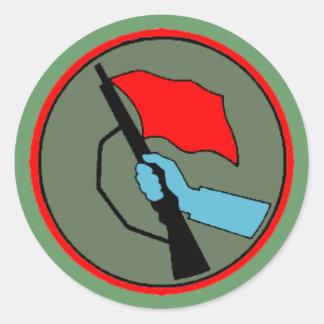 East German Kampfgruppen der Arbeitersklasse Classic Round Sticker