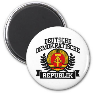 East Germany 2 Inch Round Magnet