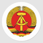 East Germany Classic Round Sticker
