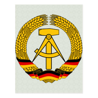 East Germany Coat of Arms detail Postcard