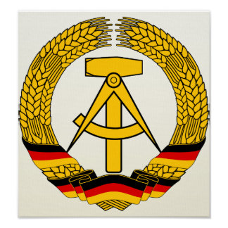 East Germany Coat of Arms detail Posters