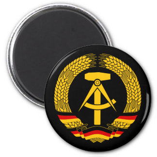 East Germany Coat of Arms / Deutschland State Seal 2 Inch Round Magnet