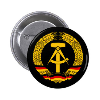 East Germany Coat of Arms / Deutschland State Seal Pinback Button