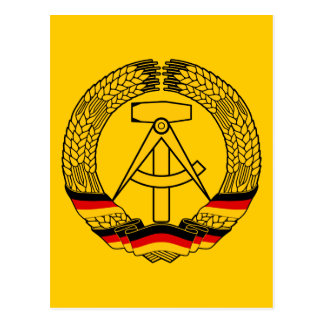 East Germany Coat of Arms / Deutschland State Seal Postcard