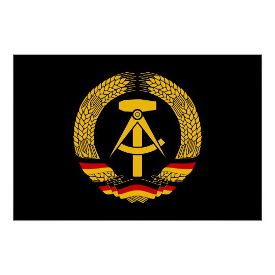 East Germany Coat of Arms / Deutschland State Seal Poster