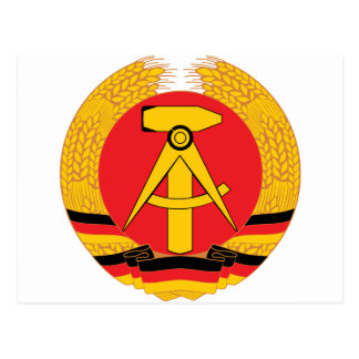 East Germany Coat Of Arms Postcard