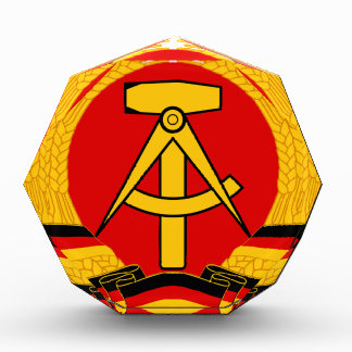East Germany Emblem Acrylic Award