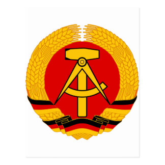 East Germany Emblem Postcard
