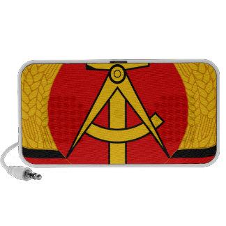 East Germany Emblem Travel Speakers