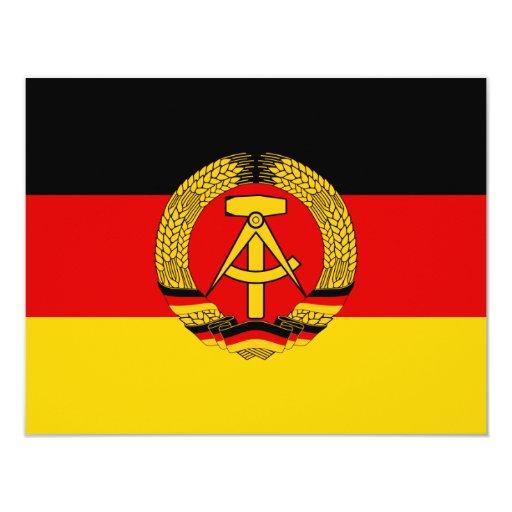 East Germany Flag 4.25x5.5 Paper Invitation Card