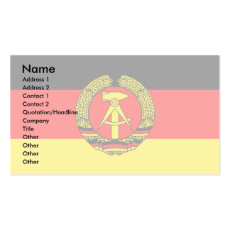 East Germany Flag Double-Sided Standard Business Cards (Pack Of 100)