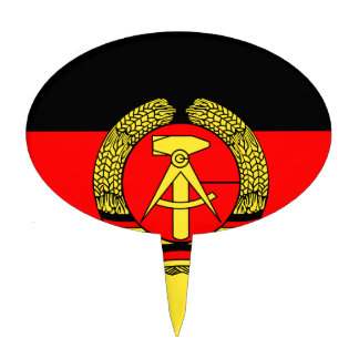 East Germany Flag Cake Topper