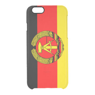 East Germany, Flag Clear iPhone 6/6S Case