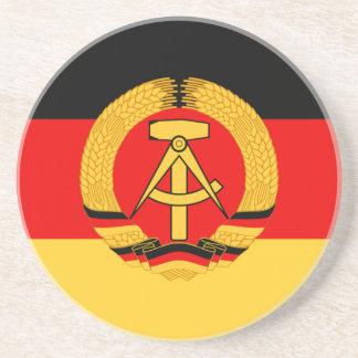 East Germany Flag Beverage Coaster