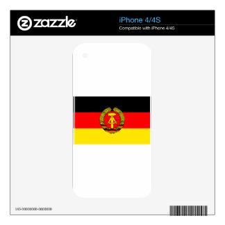 East Germany Flag iPhone 4 Decals