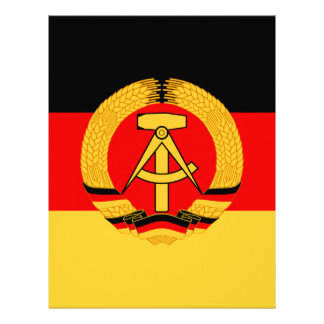East Germany Flag Letterhead Template