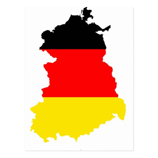 East-Germany flag map Post Card