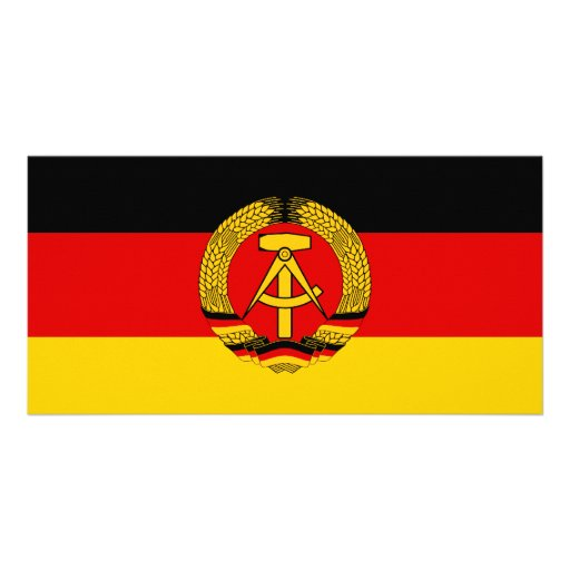 East Germany Flag Photo Card