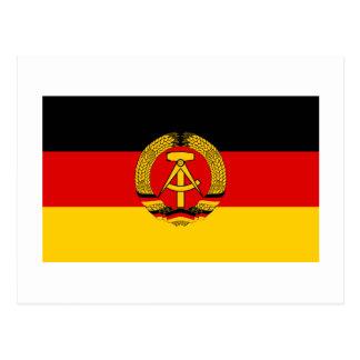 East Germany Flag Postcard