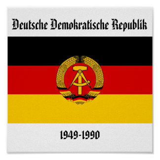 East Germany Flag Poster
