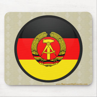 East Germany quality Flag Circle Mouse Pad