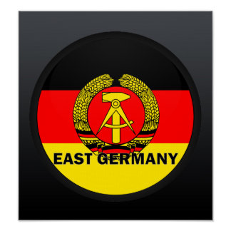 East Germany Roundel quality Flag Posters