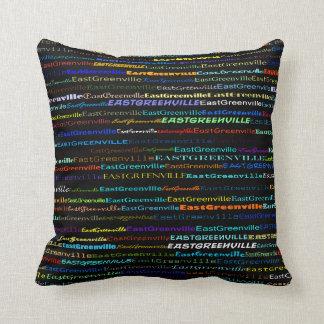 East Greenville Text Design I Throw Pillow