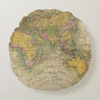 East Hemisphere Round Pillow