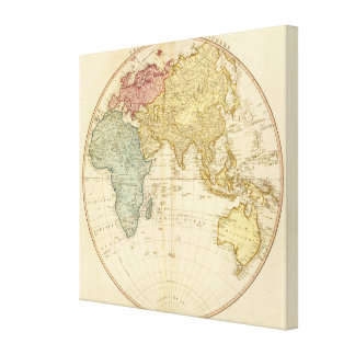 East Hemisphere  map Stretched Canvas Prints