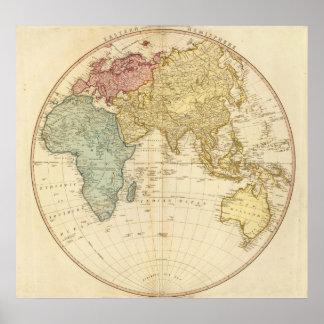 East Hemisphere  map Poster