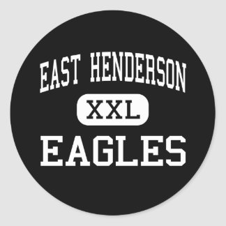 East Henderson - Eagles - High - Flat Rock Classic Round Sticker