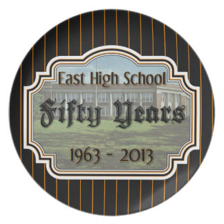 East High Fifty Year Reunion Pinstripe Plate