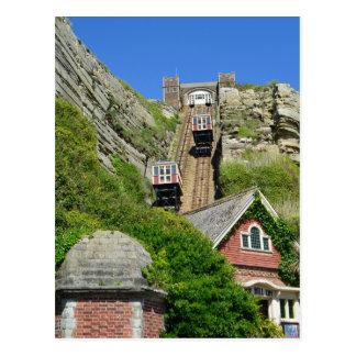 East Hill Lift Hastings England Postcard