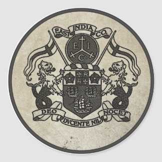 East India Company coat of arms Classic Round Sticker