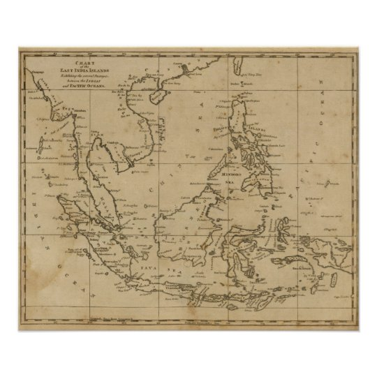 East India Islands Poster
