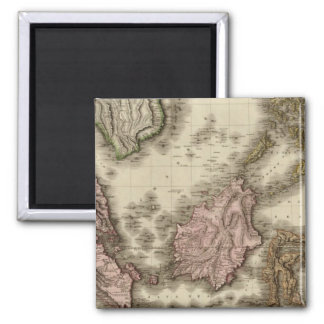 East India Isles 2 Inch Square Magnet