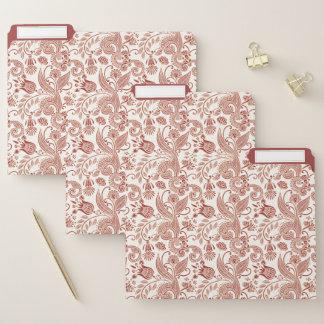 East Indian Floral Pattern in Pink File Folder